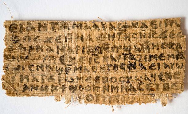 Tämän katkelman uskotaan todistavan sen, että Jeesuksella oli vaimo.