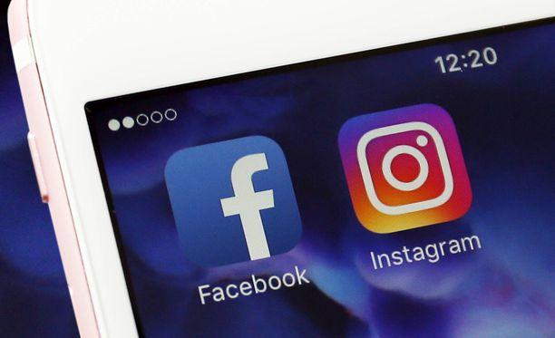 Facebook omistaa Instagramin ja Whatsappin.