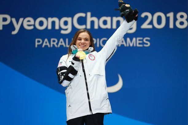 Oksana Masters voitti Pyeongchangin kisoissa viisi mitalia, joista kaksi oli kultaisia.