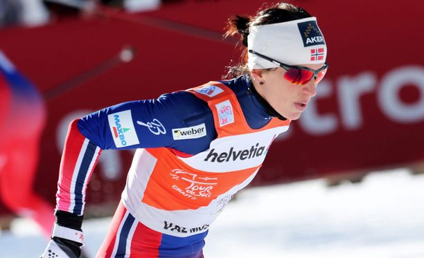 Marit Björgen oli aika-ajon nopein.