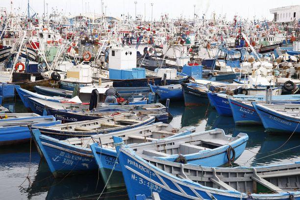 Tangerin satamassa kalastajat ovat valmiita kuljettamaan ihmisiä laittomasti Espanjaan. Monet marokkolaiset ovat valmiita maksamaan vaarallisesta merimatkasta tuhansia euroja. Kuva vuodelta 2010.