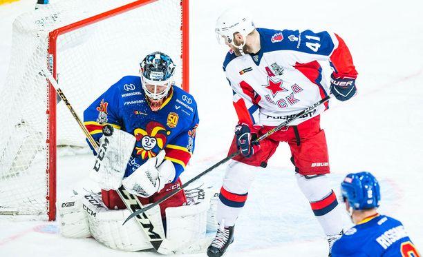 Karri Rämö sai huhkia Moskovan illassa hurjat minuutit.