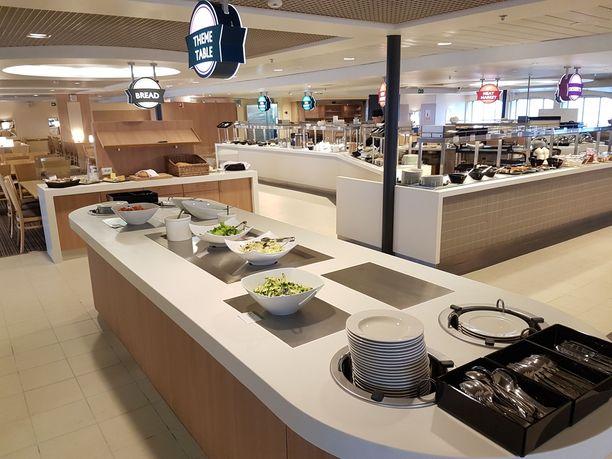 Galaxyn buffet-ravintola muuttui valoisammaksi.