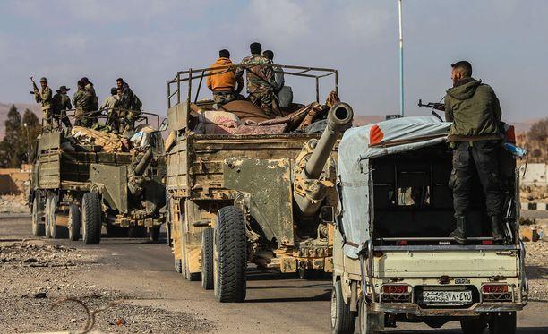 Paikkaa, jossa Syyrian armeija vangitsi Isis-teloittajan, ei ole toistaiseksi kerrottu. Arkistokuva Syyrian armeijasta.