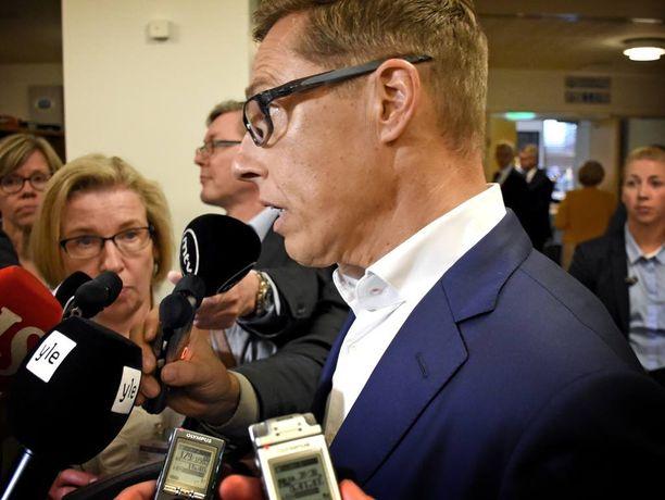Kansanedustaja Alexander Stubbin (kok) tulevaisuudensuunnitelmat kiinnostivat tiistaina eduskunnassa.