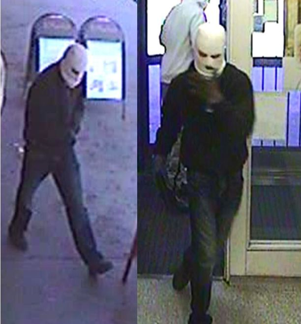 Tuntomerkit, Koskelan epäilty 1: valkoinen kommandopipo, tumma takki, tummat farkut ja tummat kengät.