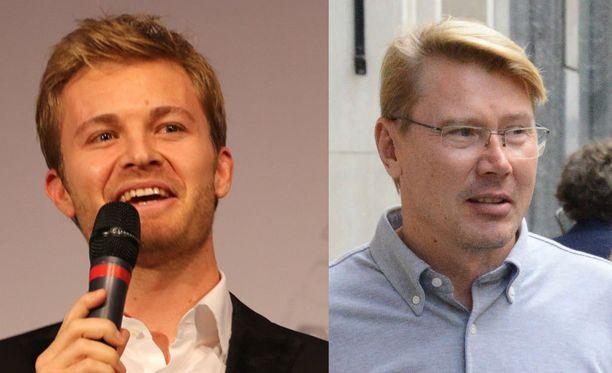 Nico Rosberg ja Mika Häkkinen luennoivat Maailman talousfoorumin tilaisuudessa.