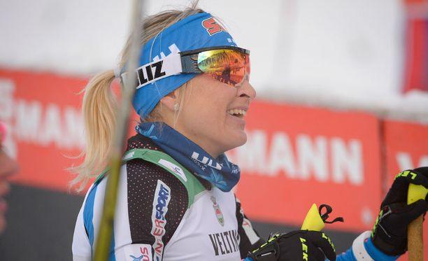 Riitta-Liisa Roponen oli viides Therese Johaugin voittamassa maailmancupin yhdistelmäkisassa Lahdessa.