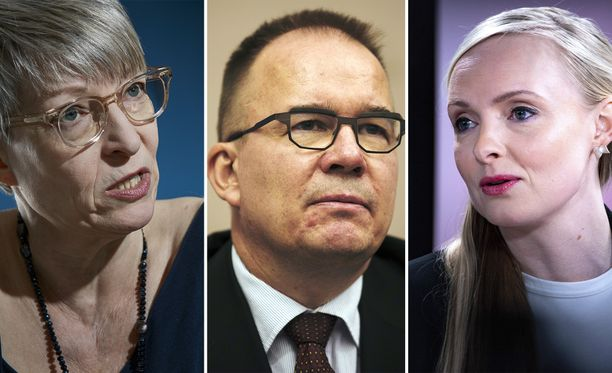 Kirsi Pimiä, Antti Pelttari ja Maria Ohisalo.