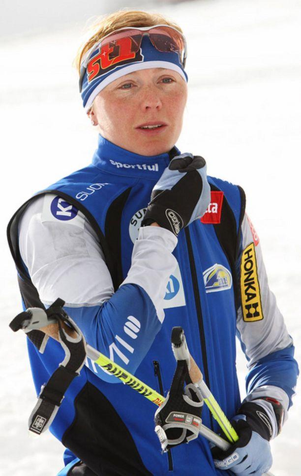 Virpi Kuitunen on ainoa Suomen nykyhiihtäjistä, joka kärähti Lahdessa 2001.