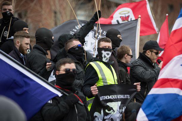 National Action organisoi heinäkuussa 2015 uusnatsien mielenosoituksen Britannian Newcastlessa.