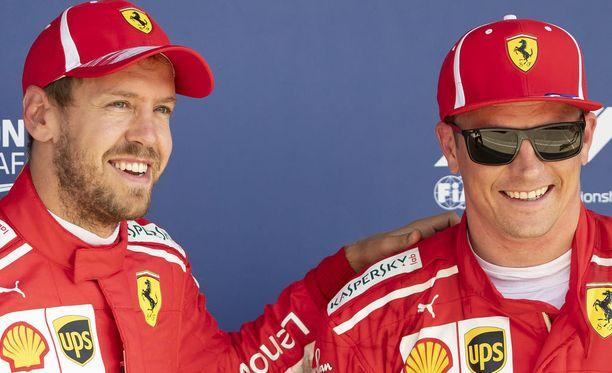 Sebastian Vettel ja Kimi Räikkönen tekivät hyvää työtä kolmen kisaviikonlopun putken aikana.