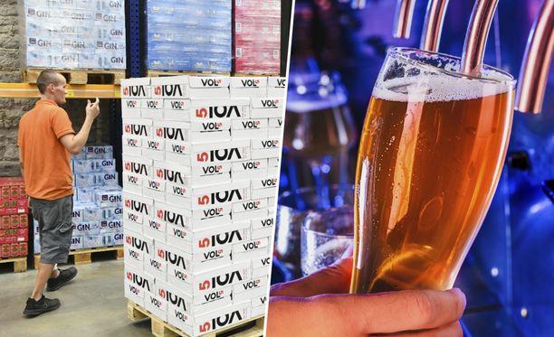 Terveyden ja hyvinvoinnin laitoksen mukaan erityisesti matkustajatuonnin vähentyminen vähensi suomalaisten alkoholin kulutusta koronavuonna.