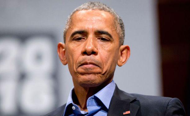 Obama puhumassa SXSW-tapahtumassa Teksasissa Apple-kiistaan liittyen.