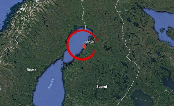 Kalajoki sijaitsee noin 130 kilometrin päässä Oulusta.