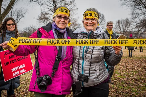 Nämä naiset osallistuivat Washingtonin marssille tammikuussa.
