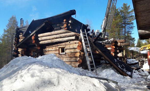 Kolme lasta kuoli mökin tulipalossa Kittilän Levillä 12. huhtikuuta.