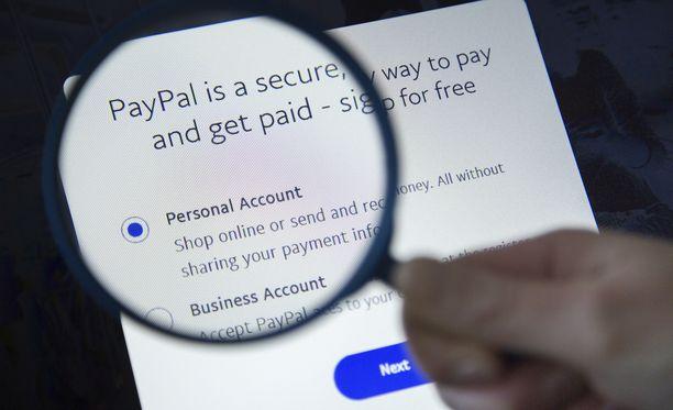 Rahaa varastetaan PayPal-aukon kautta.