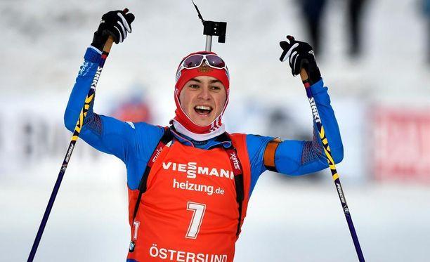Tuntematon venäläinen Anton Babikov voitti Östersundissa maailmancupin takaa-ajokilpailun.