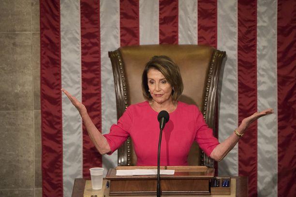 Edustajainhuoneen puhemies ja demokraattien johtohahmo Nancy Pelosi.