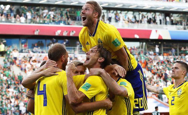 Juhliiko Ruotsi Sveitsiä vastaan?