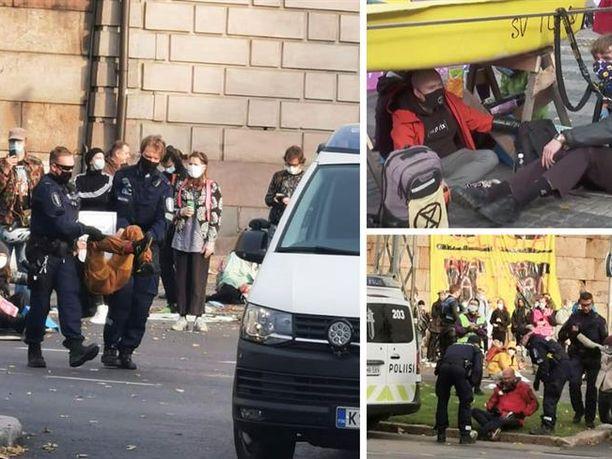 Poliisi otti kiinni lauantaina kymmeniä aktivisteja Kaisaniemessä. Poliisi selvittää sisäisesti toimintaansa parhaillaan.
