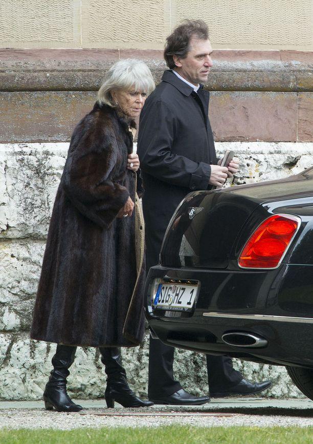 Prinsessan aviomiehen hautajaiset järjestettiin viime maaliskuussa lähipiirille.