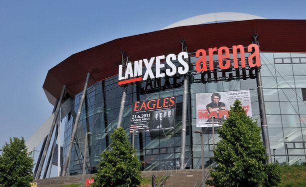 Kölnin Lanxess Arena vetää 19 500 katsojaa.
