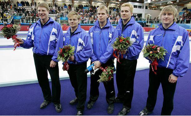 Suomen curlingjoukkue Torinon olympialaisissa