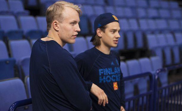 Laine ja Sebastian Aho olivat mukana Suomen World Cup -joukkueessa viime syksynä.