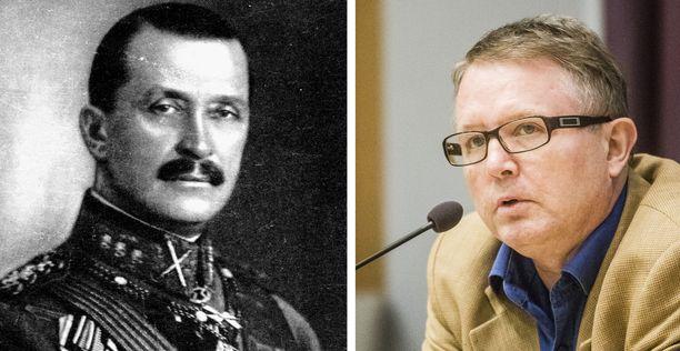 Marsalkka Mannerheim (vas.) ja professori Puuronen.