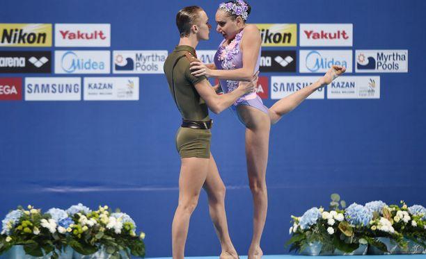 Aleksandr Maltsevin neuvostohenkinen uintiasu herätti keskustelua.