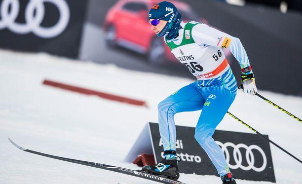 Matti Heikkinen oli nopein suomalaismies Lillehammerin kympin vapaalla.