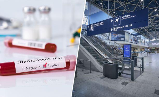 Lentokentät ovat hiljentyneet koronavirusepidemian vuoksi.