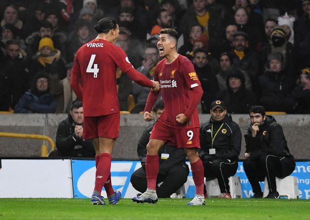 Roberto Firmino ja Virgil van Dijk päästivät kunnon karjaisut, kun Liverpool nousi lopussa voittoon.