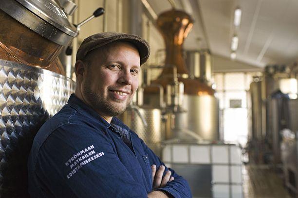 Kyrö Distillery Company vältti yt-neuvottelut koronakriisissä. Arkistokuvassa perustaja-toimitusjohtaja Miika Lipiäinen.