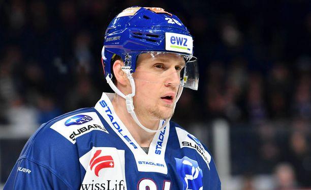 Lauri Korpikoski pelasi viime kaudella Zürich Lionsissa.