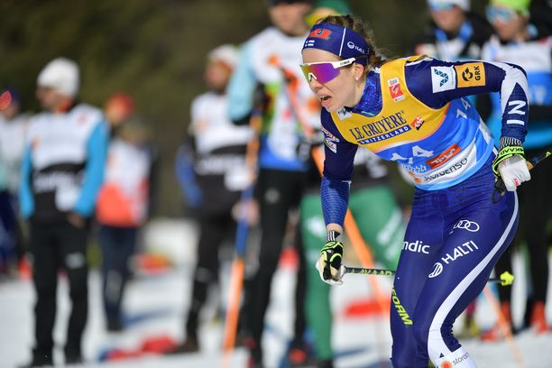 Laura Mononen oli kahdestoista lauantain yhdistelmäkilpailussa Seefeldin MM-kisoissa.