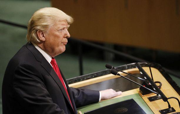 Trumpin puhe herätti poikkeuksellisia reaktioita YK:n yleiskokouksessa.