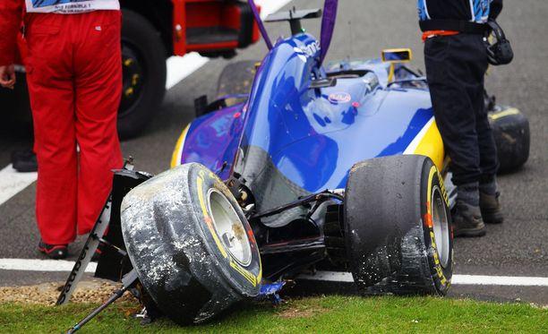 Marcus Ericssonin auto koki kovia lauantaina.