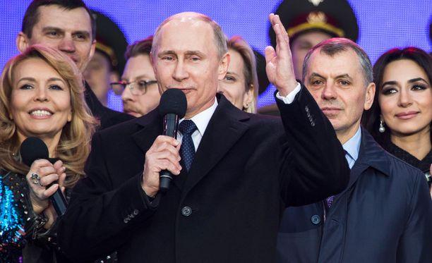 Venäjän presidentti Vladimir Putin piti Moskovan punaisella torilla viikko sitten keskiviikkona puheen, kun Krimin liittämisestä Venäjään oli kulunut tasan vuosi.