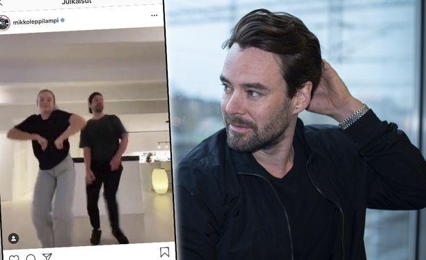 Mikko Leppilammen ja hänen Lilia-tyttärensä tanssitaidot löivät näyttelijä-juontajan Instagram-seuraajat ällikällä.