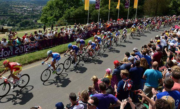 Lontoon olympialaisten pyöräilykisoissa tapahtui hieman erikoinen tapahtuma.