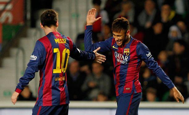 Messi ja Neymar olivat iskussa Elcheä vastaan.