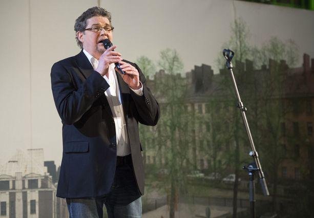 Risto Autio Kotikadun päätösjuhlissa joulukuussa 2012.