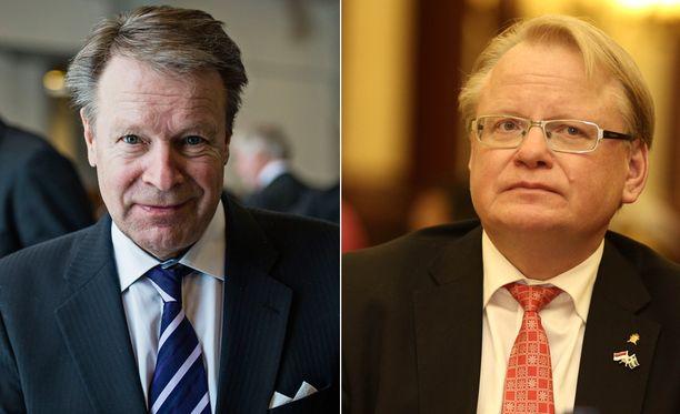 Eduskunnan puolustusvaliokunnan puheenjohtaja Ilkka Kanerva toteaa puolustusyhteistyön etenemisen olevan tärkeää. Ruotsin puolustusministeri Peter Hultqvist kertoo Ruotsin aikovan arvioida yhteistyön syventämistä.
