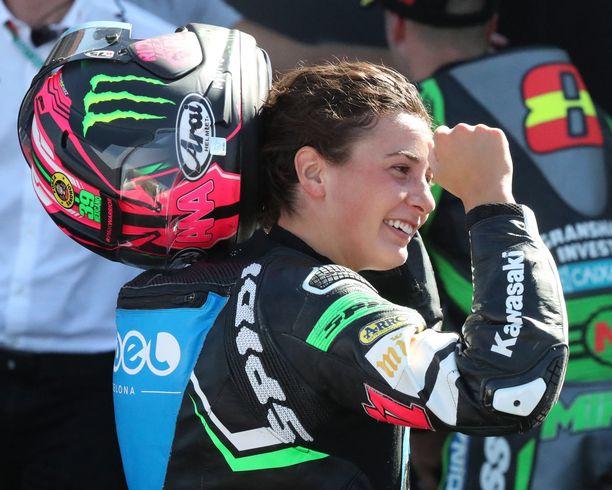 Kawasakilla ajava Ana Carrasco on toipilaana vielä pitkään.