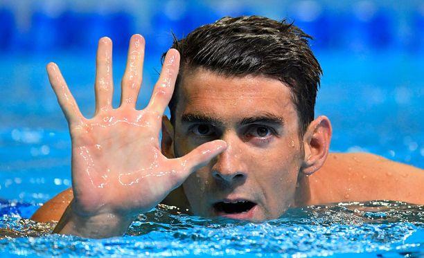 Michael Phelps lähtee viidensiin olympialaisiinsa.