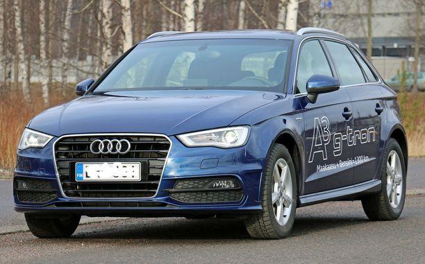 29. Audi A3 G-Tron kulkee pidemmälle kuin bensa-Audi.