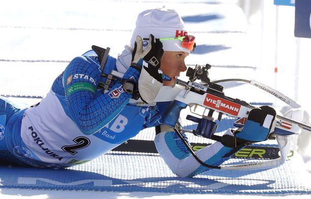 Suomen ammunta ei ollut kilpailun alussa kohdallaan. Mari Eder joutui sakkokierrokselle.